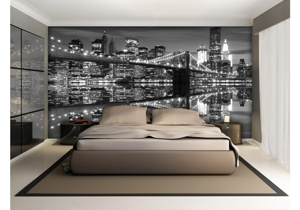 Fotobehang Zwart Wit.Fotobehang New York Zwart Wit 104x70 5cm