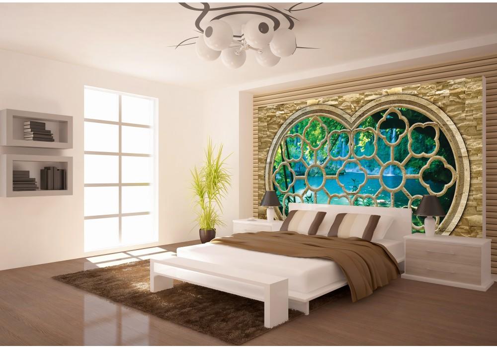 fotobehang papier natuur, slaapkamer | blauw | fotobehangart.nl