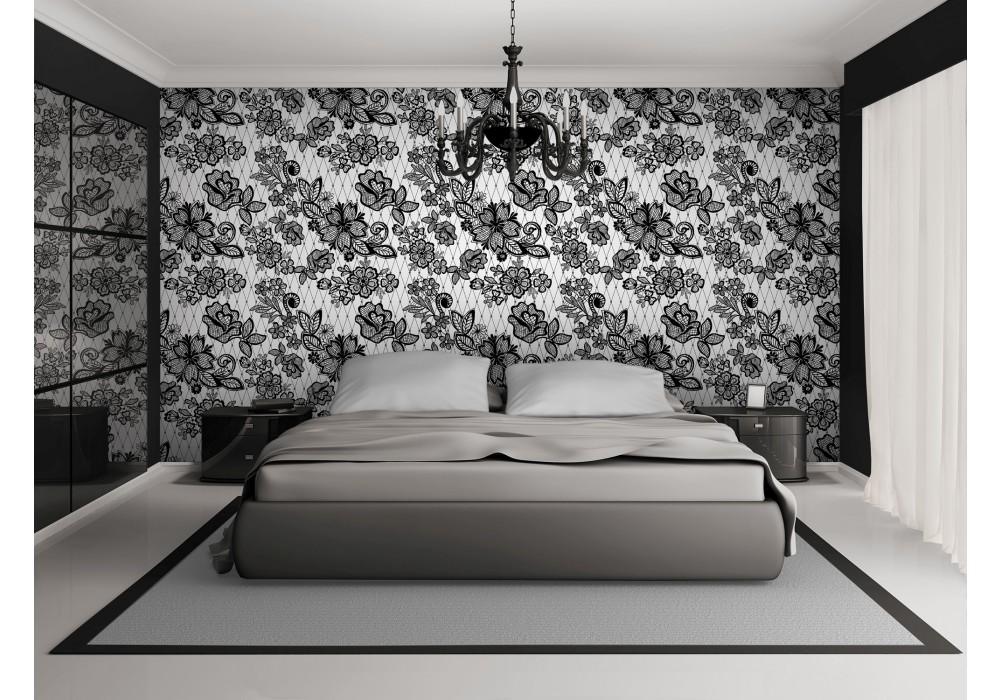 fotobehang bloemen, slaapkamer | grijs | 152,5x104cm | fotobehangart.nl