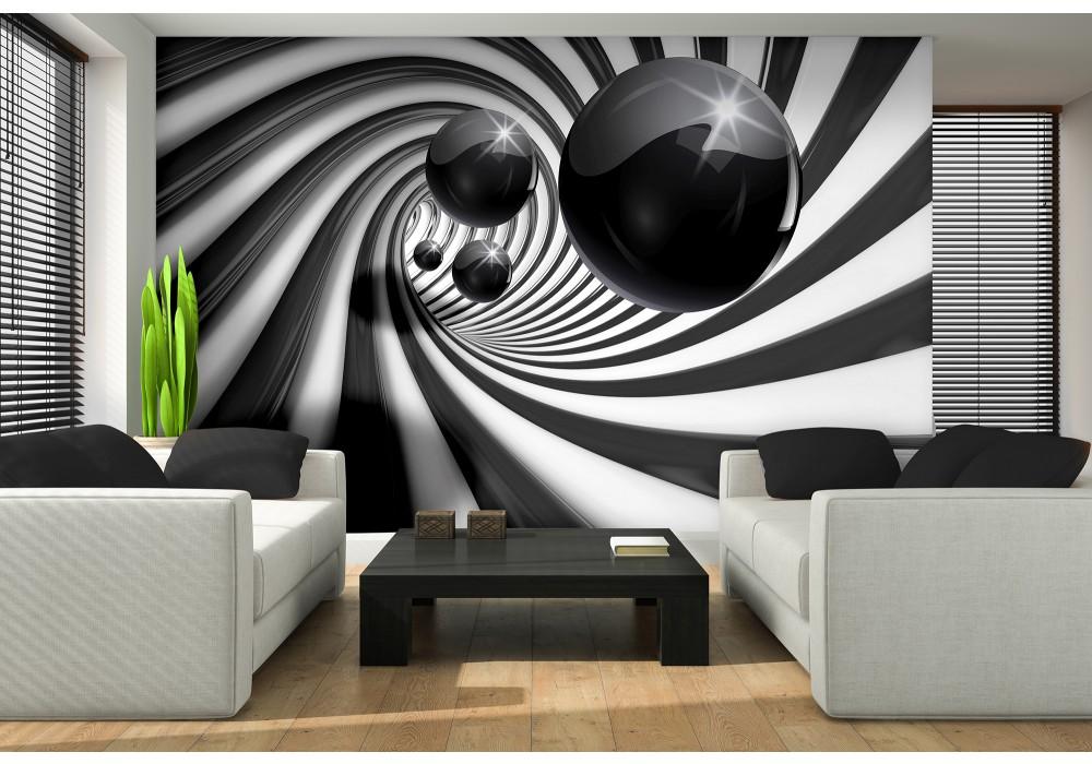 Fotobehang Zwart Wit.Fotobehang 3d Zwart Wit 152 5x104cm