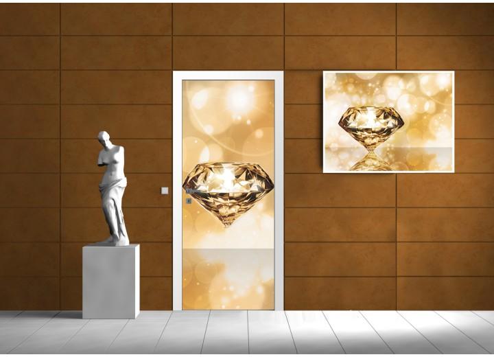 Fotobehang 3D | Goud | 91x211cm