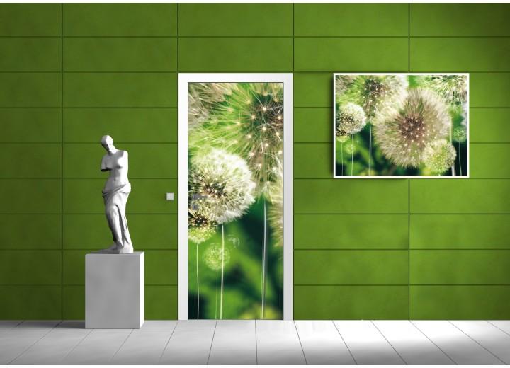 Deursticker Muursticker Paardenbloem | Groen | 91x211cm