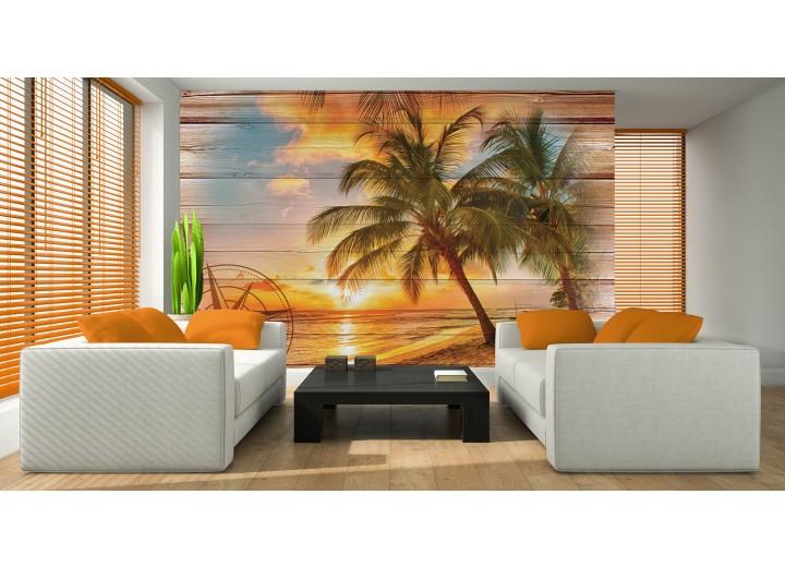 Fotobehang Vlies | Strand | Oranje, Geel | 368x254cm (bxh)