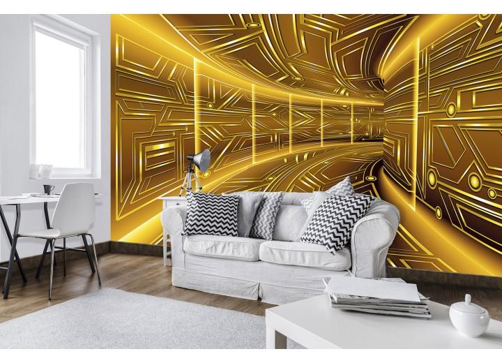 Fotobehang Vlies   Abstract   Goud, Bruin   368x254cm (bxh)