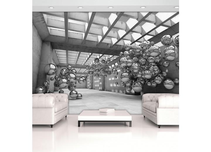 Fotobehang Vlies   Abstract   Zilver   368x254cm (bxh)