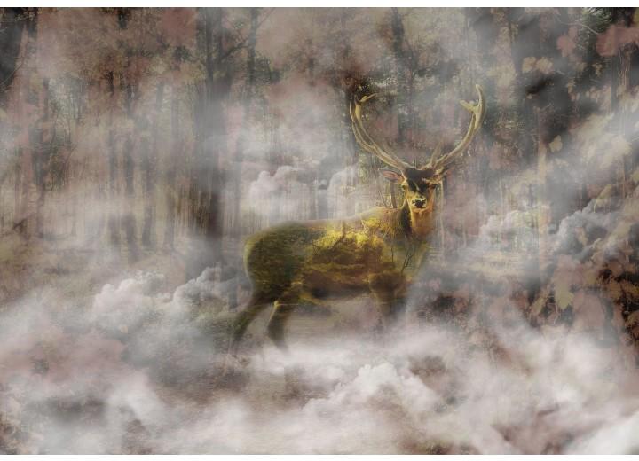 Fotobehang Vlies | Hert | Grijs, Bruin | 368x254cm (bxh)
