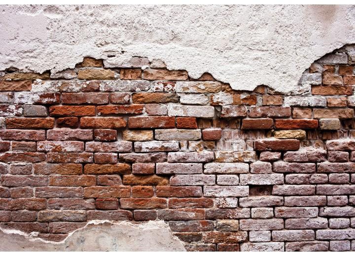 Fotobehang Vlies | Muur, Industrieel | Bruin | 368x254cm (bxh)