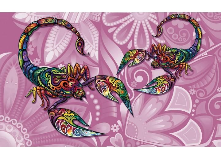 Fotobehang Vlies | Abstract | Roze , Paars | 368x254cm (bxh)