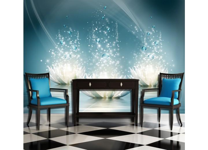 Fotobehang Vlies | Design, Bloem | Blauw | 368x254cm (bxh)