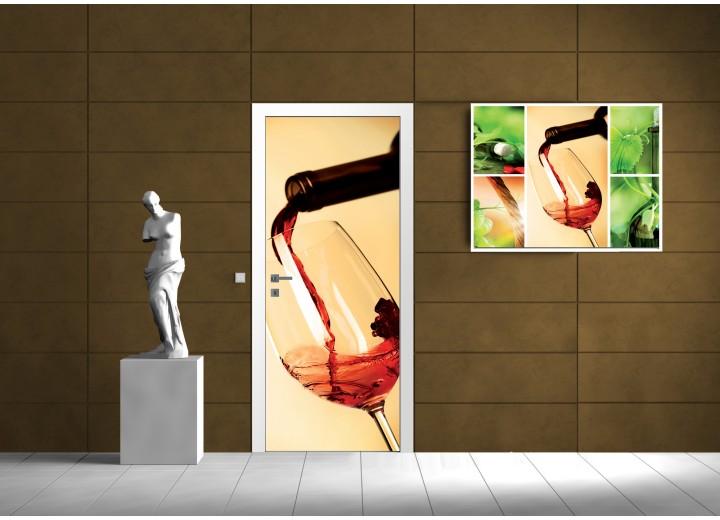 Fotobehang Wine | Rood | 91x211cm
