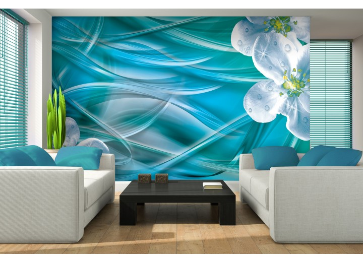 Fotobehang Vlies   Modern   Groen, Blauw   368x254cm (bxh)