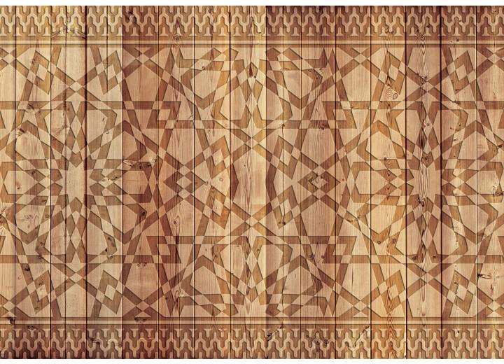 Fotobehang Vlies | Modern, Hout | Bruin | 368x254cm (bxh)