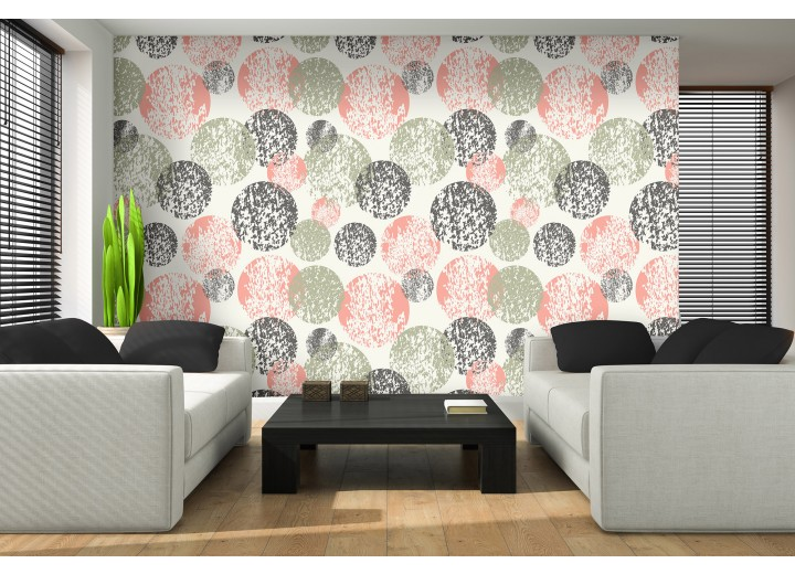 Fotobehang Vlies | Modern | Roze, Grijs | 368x254cm (bxh)
