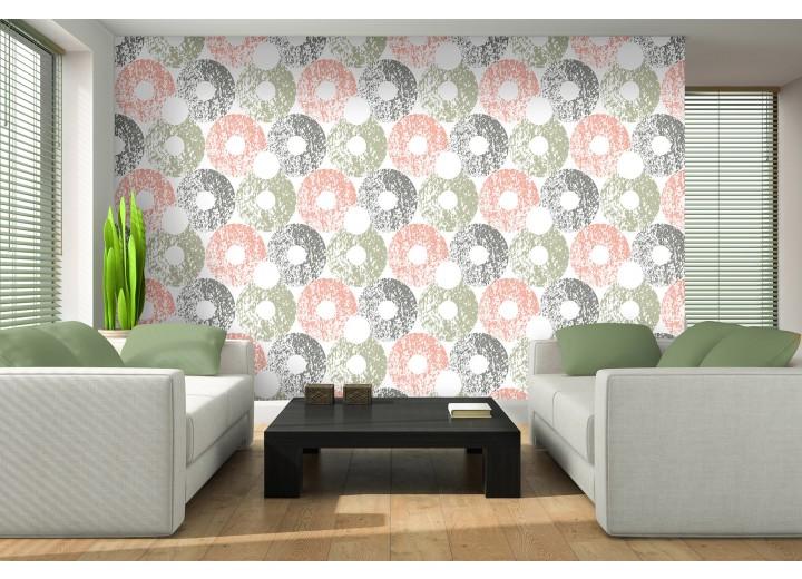 Fotobehang Vlies | Modern | Groen, Grijs | 368x254cm (bxh)