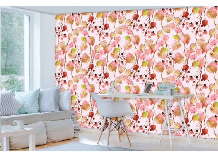 Fotobehang Vlies | Modern | Roze, Groen | 368x254cm (bxh)