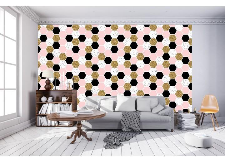 Fotobehang Vlies   Modern   Roze, Zwart   368x254cm (bxh)