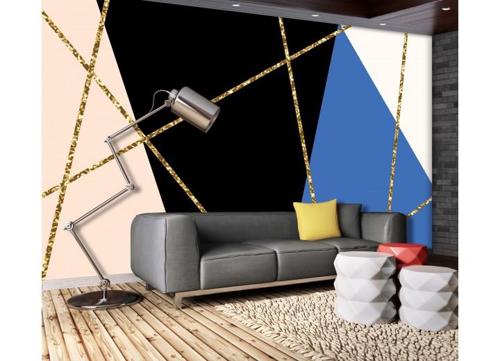 Fotobehang Vlies | Design | Zwart, Blauw | 368x254cm (bxh)