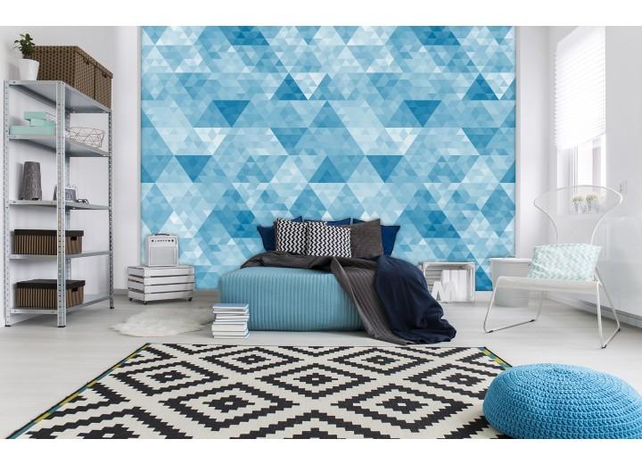 Fotobehang Vlies | Modern, Design | Blauw | 368x254cm (bxh)