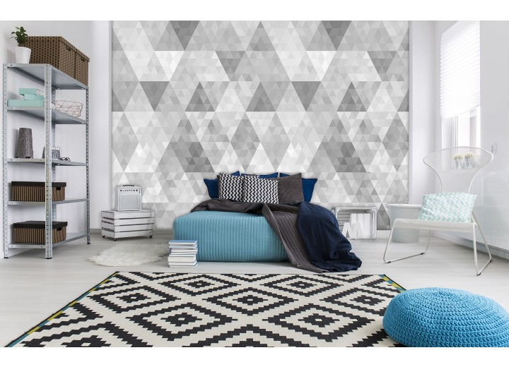 Fotobehang Vlies | Modern, Design | Grijs | 368x254cm (bxh)