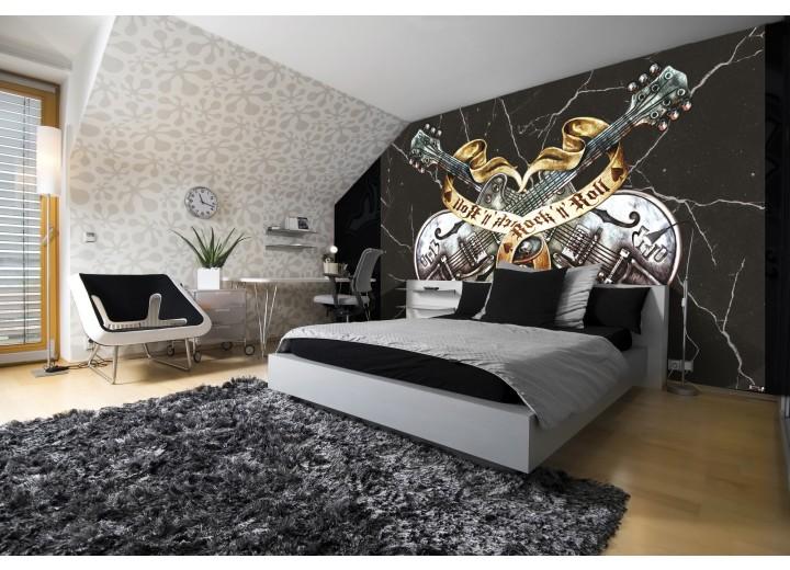 Fotobehang Vlies | Muziek, Gitaar | Zwart | 368x254cm (bxh)