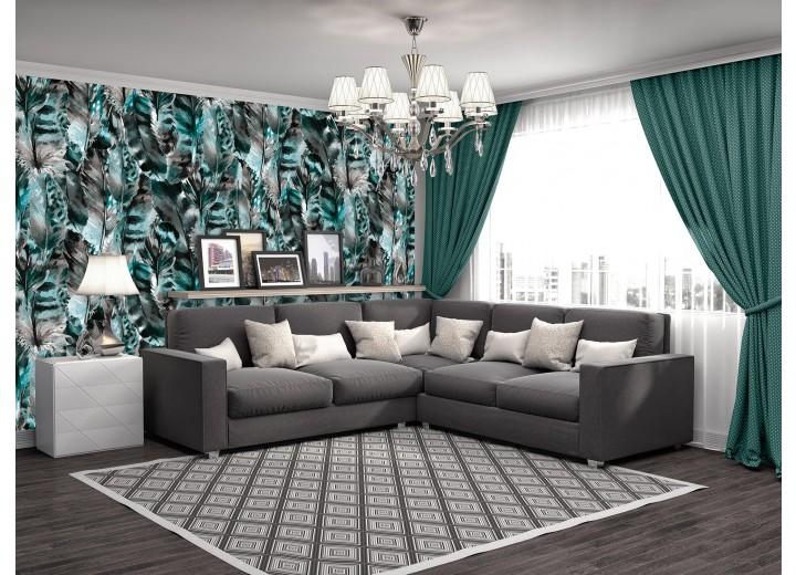 Fotobehang Vlies | Modern | Turquoise, Grijs  | 368x254cm (bxh)