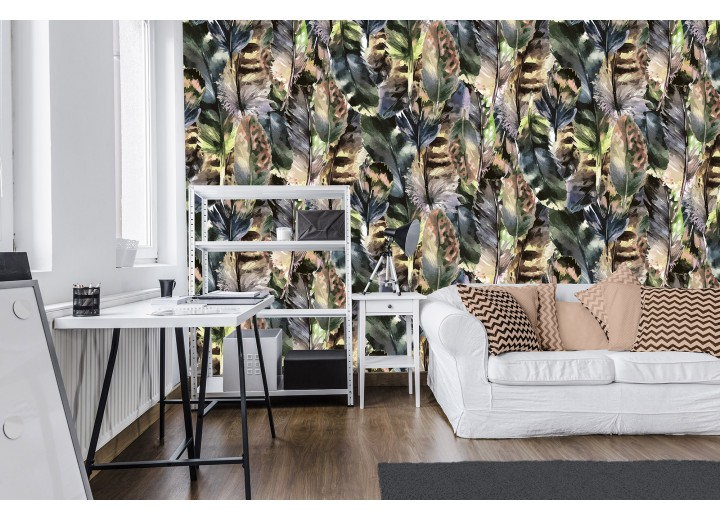 Fotobehang Vlies | Modern | Bruin, Grijs  | 368x254cm (bxh)