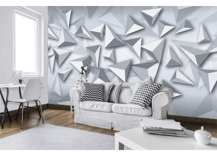 Fotobehang Vlies | 3D, Design | Grijs 368x254cm (bxh)