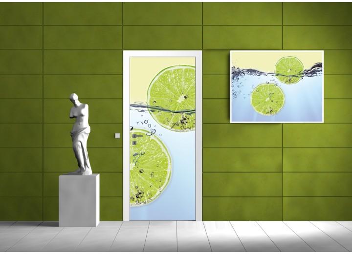 Fotobehang Limes   Groen   91x211cm