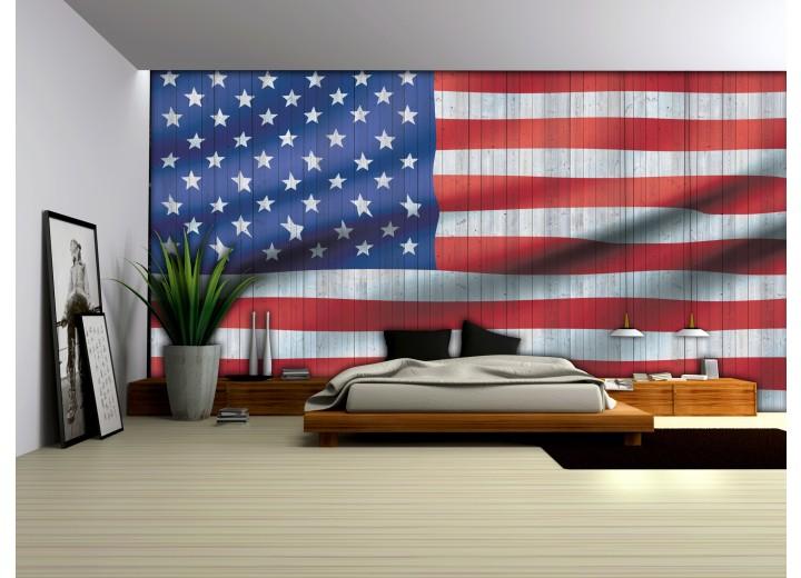 Fotobehang Vlies | Vlag | Rood, Wit | 368x254cm (bxh)