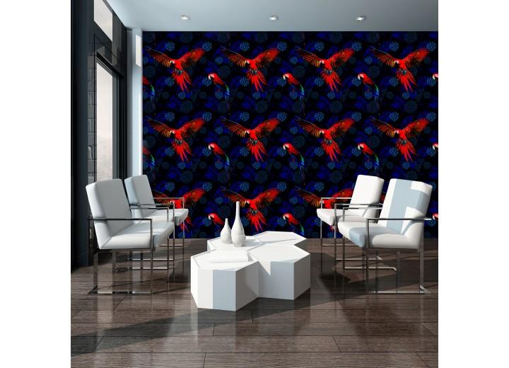 Fotobehang Vlies | Vogels | Rood, Blauw | 368x254cm (bxh)