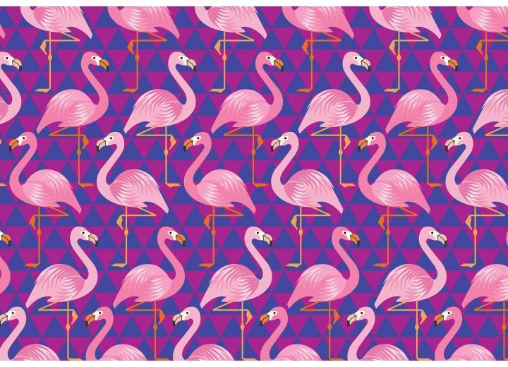 Fotobehang Vlies   Flamingo   Roze, Paars   368x254cm (bxh)