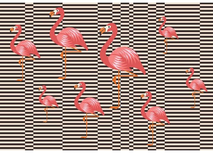 Fotobehang Vlies   Flamingo   Bruin, Oranje   368x254cm (bxh)