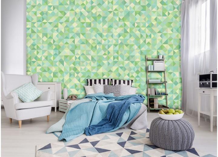 Fotobehang Vlies | Modern | Groen, Geel | 368x254cm (bxh)