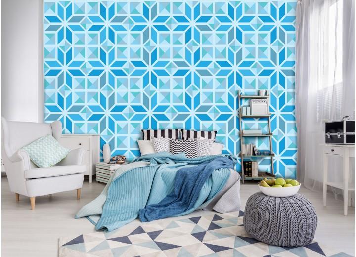 Fotobehang Vlies | Modern | Grijs, Blauw | 368x254cm (bxh)