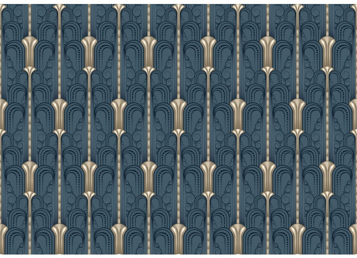 Fotobehang Vlies   Klassiek   Blauw, Grijs   368x254cm (bxh)