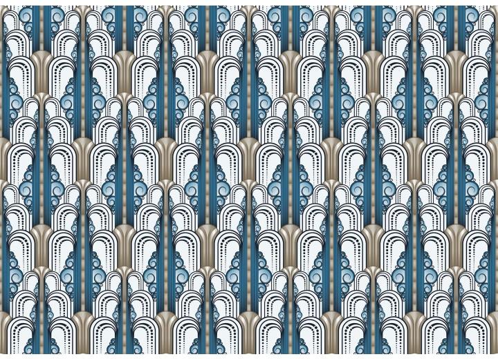 Fotobehang Vlies | Klassiek | Blauw, Grijs | 368x254cm (bxh)