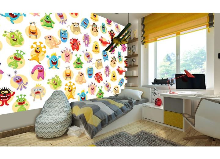 Fotobehang Vlies | Babykamer | Geel, Groen | 368x254cm (bxh)