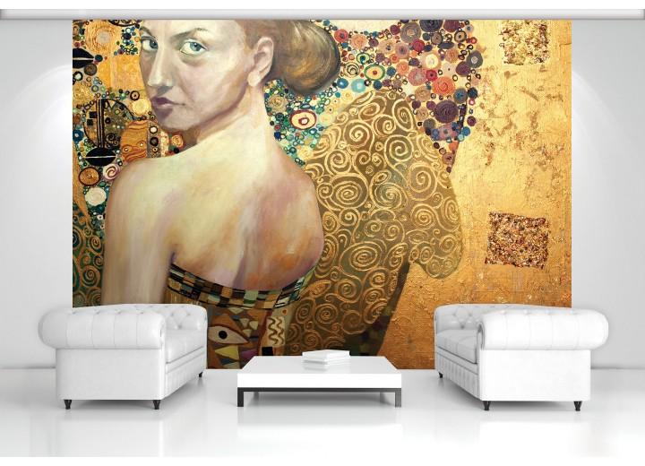 Fotobehang Vlies | Design | Goud, Geel | 368x254cm (bxh)