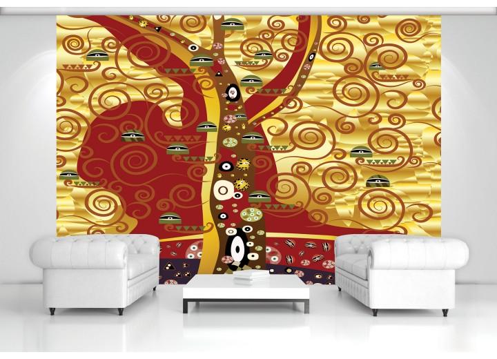 Fotobehang Vlies | Design | Bruin, Geel | 368x254cm (bxh)