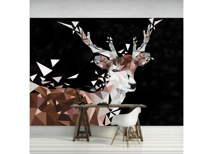 Fotobehang Vlies | Hert | Bruin, Zwart | 368x254cm (bxh)