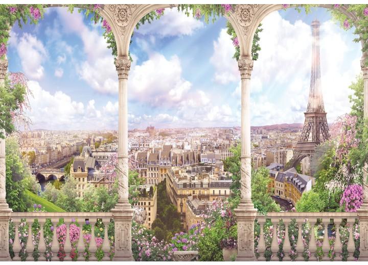 Fotobehang Vlies | Parijs, Frankrijk | Groen | 368x254cm (bxh)