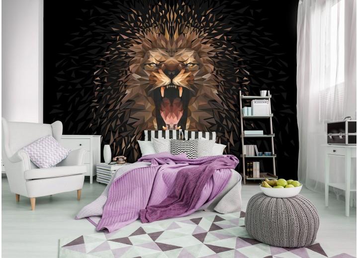 Fotobehang Vlies | Design, Tijger | Bruin | 368x254cm (bxh)