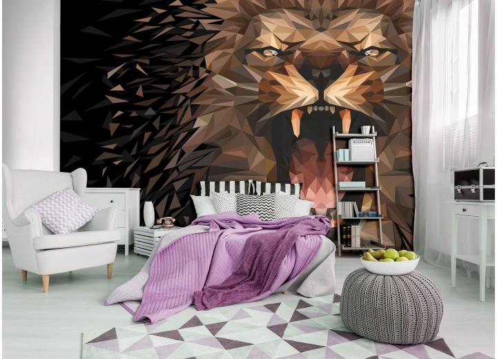 Fotobehang Vlies   Design, Tijger   Bruin   368x254cm (bxh)