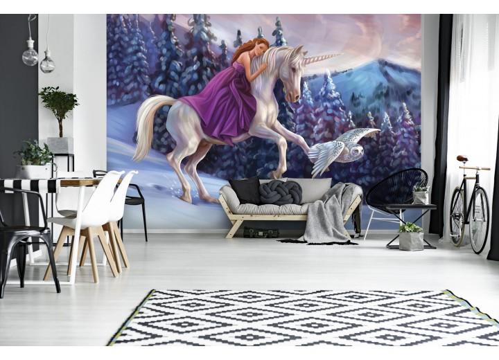 Fotobehang Vlies   Paard   Paars   368x254cm (bxh)