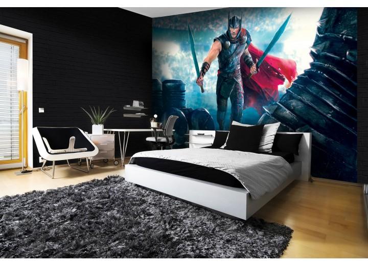 Fotobehang Vlies | Thor | Blauw, Rood | 368x254cm (bxh)