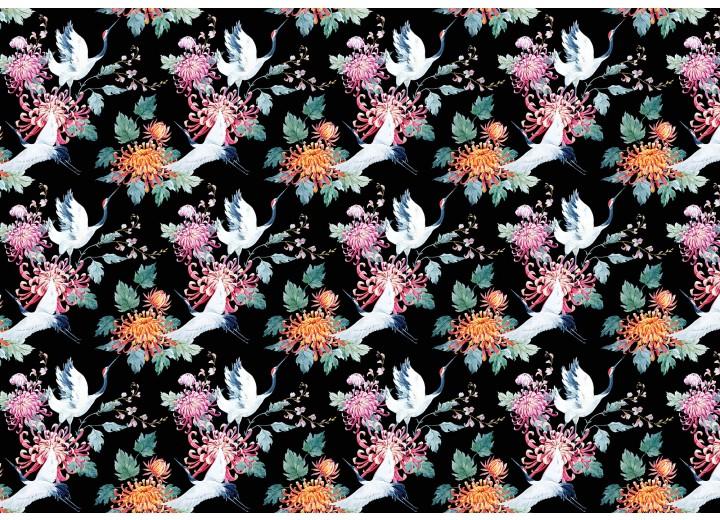 Fotobehang Vlies | Vogels | Zwart, Roze | 368x254cm (bxh)