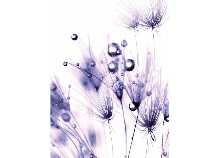 Fotobehang Papier Bloemen | Paars | 184x254cm