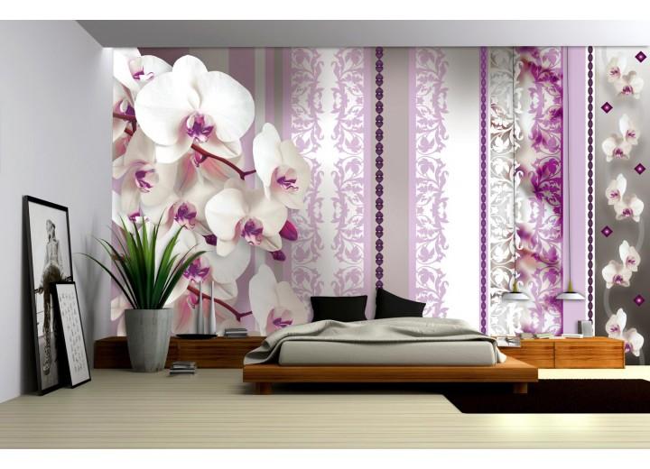 Fotobehang Vlies | Bloemen, Orchideeën | Paars | 368x254cm (bxh)