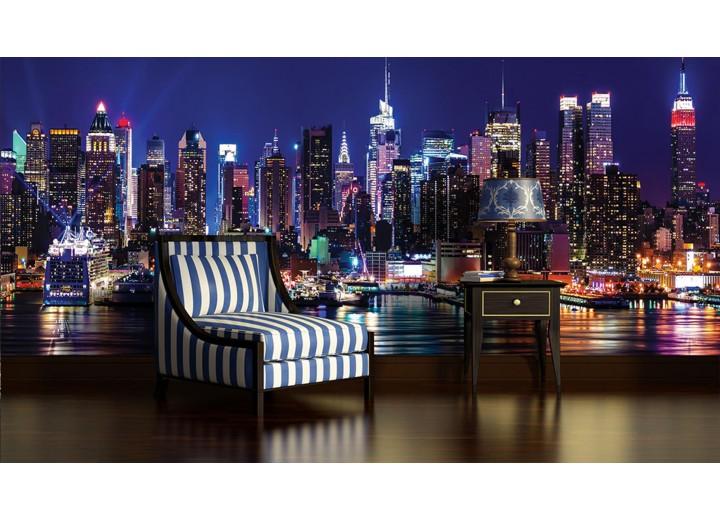 Fotobehang Vlies | New York | Paars | 368x254cm (bxh)