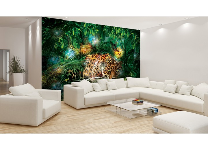 Fotobehang Jungle | Groen, Bruin | 416x254